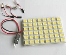 48 5050-SMD LED Panel Light + 31mm-42mm Festoon Dome Adapter Bulb Lamp White 12V