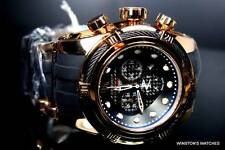 Invicta Reserve Bolt Zeus Jason Taylor JT Swiss Rose Gold Plated Black Watch New