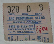 NY Islanders 1979-80 Playoff Ticket Stub Nassau Coliseum Seat 8 Stanley Cup
