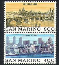 San Marino 1980 StampEx/Buildings/Architecture/Bridge/Cathedral 2v set pr n37019