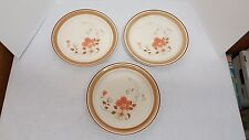 Watercolors Hand Decorated Stoneware Hearthside Japan Set of 3 Dinner Plates