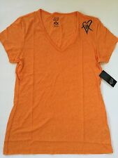 $26 Fox Racing Women's Limiter V-neck Tee Orange Flame  Size L