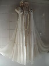 H&M vintage anni 1920 Tier DECO Perline Charleston Flapper Gatsby Babydoll Dress 12/14