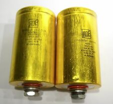 Two ROE Gold 40v 68000uf EYM/B -10 +105° -  Audio Grade Capacitors