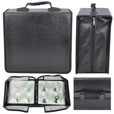 Black CD DVD Carrying Case 400 Capacity Disc Bluray Storage Box Organizer in