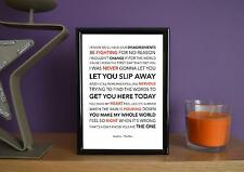 Framed - Kodaline - The One - Poster Art Print - 5x7 Inches