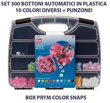 BOX 300 BOTONI AUTOMATICI A PRESSIONE 10 COLORI + PUNZONE MONTAGGIO PRYM 393900