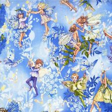 Fat Quarter Dawn Flower Fairies Cotton Quilting Fabric Michael Miller