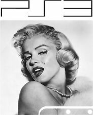 PlayStation 3 PS3 Slim MARILYN MONROE vinyl Sticker Skin