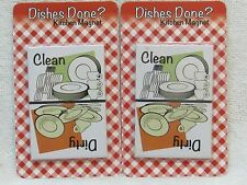 2X Clean / Dirty Dishes Magnet for Dishwasher NEW LOT FREE SHIPPING
