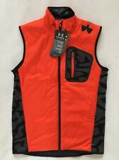 Under Armour Mens Vest Combine Training SMALL ColdGear Orange Black NWT $89.99