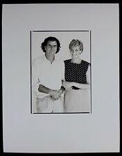 Photo Patrick Demarchelier - Lady Diana et Patrick Demarchelier - 1989 -