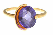 MYSTIC TOPAZ 10K YELLOW GOLD SOLITAIRE RING SIZE 7.25