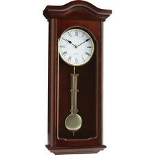 BNFUSA HHWC83 Kassel Quartz Pendulum Wall Clock With Youngtown Step Movemen