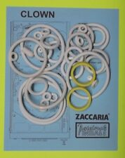 1985 Zaccaria Clown pinball rubber ring kit
