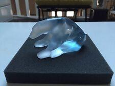 Daum France Polar Bear Sculpture - Pate de Verre White Blue - 500$ RP