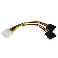 Molex to 2 x SATA/Serial ATA Power Splitter HDD Cable Lead Adapter Convertor