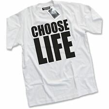 NEW Choose Life George Michael Wham 80s Fancy Dress Party Costume White T-Shirt
