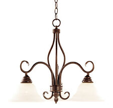 Savoy House KP-100-3-91 Chandelier with Faux Alabaster Shades, Sunset Bronze