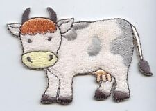 Iron On Embroidered Applique Patch Childrens Terry Baby Soft Cow 155036A