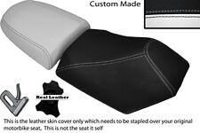 BLACK & WHITE CUSTOM FITS BAOTIAN FALCON 50 2 PIECE DUAL SEATS COVERS