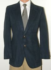 Lanvin Neiman Marcus Hand Tailored Mens Blue UltraSuede Blazer 38R 38 R J1156