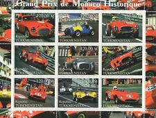GRAND PRIX HISTORY OF MONACO MOTOR CAR SPORT RACING 2000 MNH STAMP SHEETLET