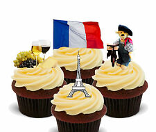 La france fun pack, comestible stand-up cup cake toppers, eurovision, euro 2016 français