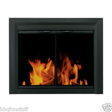 Pleasant Hearth Glass Fireplace Door Carlisle Black Large Mesh Screen CL-3002