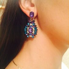 Gemma New Summer Bohemian Colorful Big Drop Earrings Fashion Accessories Crystal
