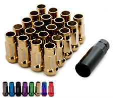 Lug Nuts M12x1.25 GOLD Forged Steel 20pcs Lugs Length 48mm Acorn Tuner D1