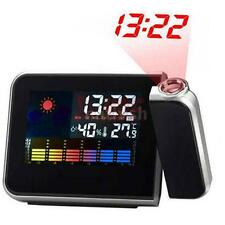 Digital Réveil Horloge Alarm Clock Projecteur Screen LCD Fit AAA Battery W8EN