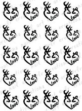"20 Nail Decals *Browning Deer BLACK Country Love""  Water Slide Nail Art Decals"
