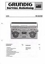 Service Manual-Anleitung für Grundig RR 650, RR 660