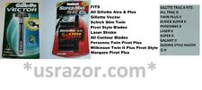 2 Gillette Vector Supermax Fits Atra Trac II Plus Razor blades Cartridges Handle