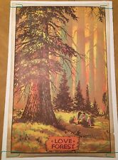 Vintage Blacklight Poster Love Forest 1970 Star City Pinup Headshop Ephemera Uv