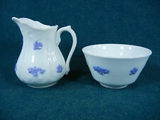 Adderley Chelsea Blue Creamer and Open Sugar Bowl Set