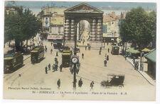 CPA BORDEAUX PLACE DE LA VICTOIRE ET PORTE D'AQUITAINE - TRAMWAY