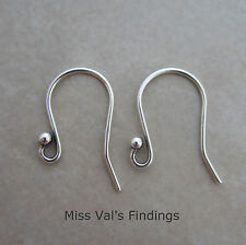 10 oxidized sterling silver 925 hook ear wires 18mm heavyweight 19 gauge