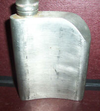 Vintage Thailand Pewter Hip Flask ~ Odd Un-Centered Cap