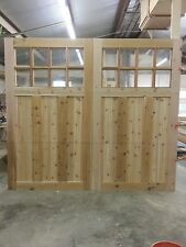 9x8 Western Red Cedar Sectional O/H Carriage House Garage Door