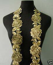 """TL138 2.5"""" Tier Rose Gold Metallic Trims Corded Lace Edging Sewing/Diy/Bridal 1Y"""