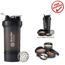 Blender Bottle Gym Protein Shake Shaker Ball Mixer Fitness Pill Storage Box 22oz