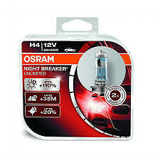 H4 NEW OSRAM NIGHT BREAKER UNLIMITED BULBS UPGRADE FROM PLUS SALE + 110% EXTRA