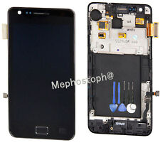 new Lcd  Screen For Samsung i9100 Galaxy S2 Digitizer + Frame Touch Black