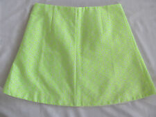 J.Crew A-Line Short Skirt - Floral Jacquard in Neon Yellow -Size 14 NWT $78