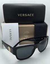 New VERSACE Sunglasses VE 4275 GB1/87 58-18 140 Black & Gold Frame w/Grey lenses