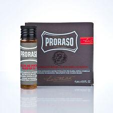 PRORASO heißes Bartöl Bart ÖL Beard Oil 4 x 17ml hot oil (20,22 EUR/100 ml)