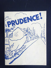 RARE ancienne brochure Prudence code de la route TTBE