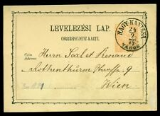 HUNGARY TOWN CANCEL on 1871 2kr POSTAL CARD - NAGY KANIZSA